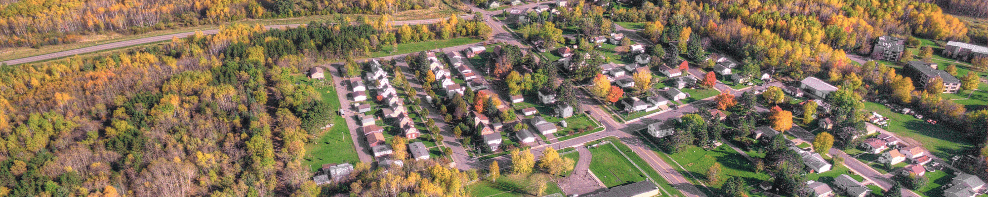 aerial image of neighborhood