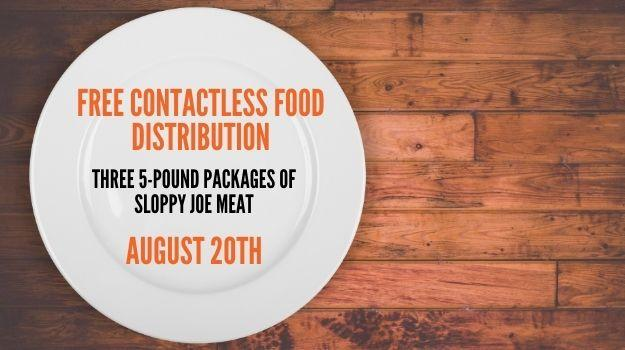Free boxes of sloppy joe meat will be distributed to anyone interested Aug. 20 at UWNEMN in Chisholm.