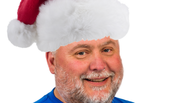 Paul Janssen in Santa hat